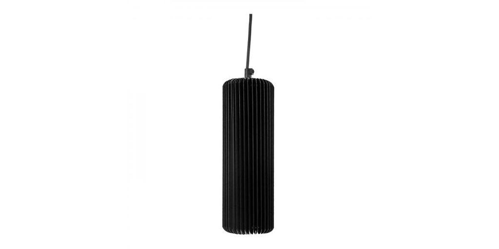 Exkluzív függesztett mennyezeti lámpa, 25 cm, cső alakú, fekete - FUSEAU